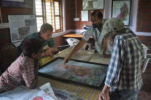 Discussing places of cultural importance to the Soliga in the BRT Hills