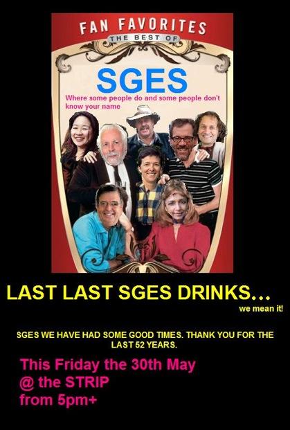 SGES Last Drinks