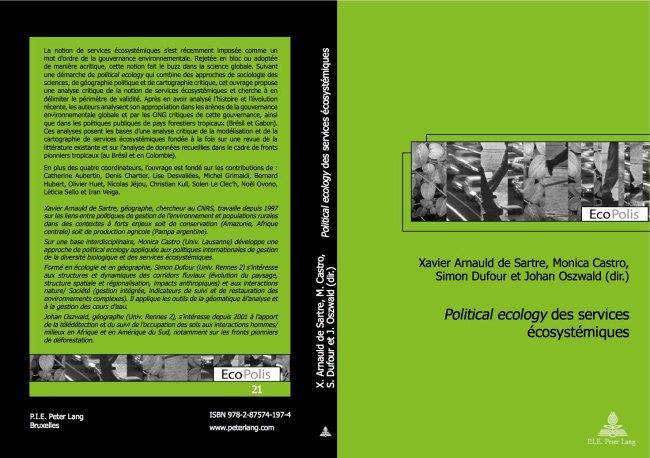 Cover page of Political ecology des services écosystémiques